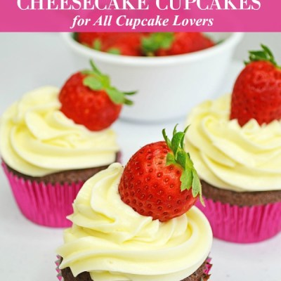Strawberry Cheesecake Cupcakes Featured Image