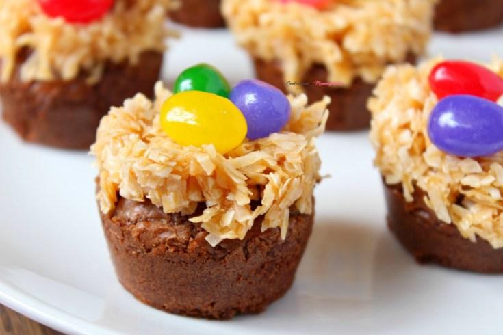 Bird Nest Brownie Bites Treat Recipe Perfect for Spring