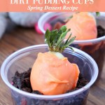 Carrot Patch Dirt Pudding Cups Dessert Recipe for Spring