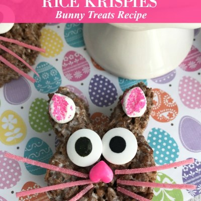 Chocolate Rice Krispies Bunny Treats Recipe Featured Image