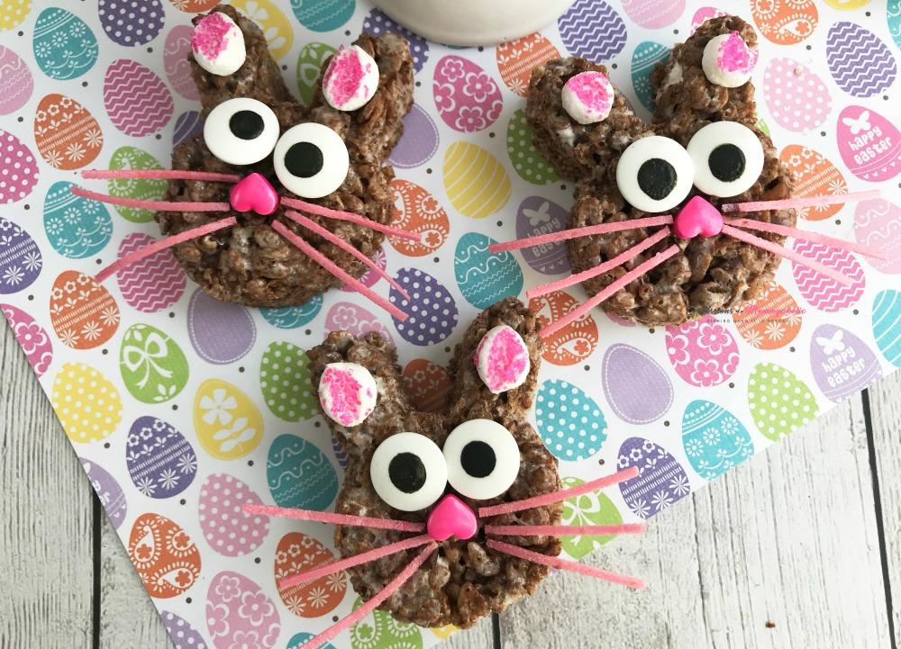 Chocolate Rice Krispies Bunny Treats Recipe Horizontal 1