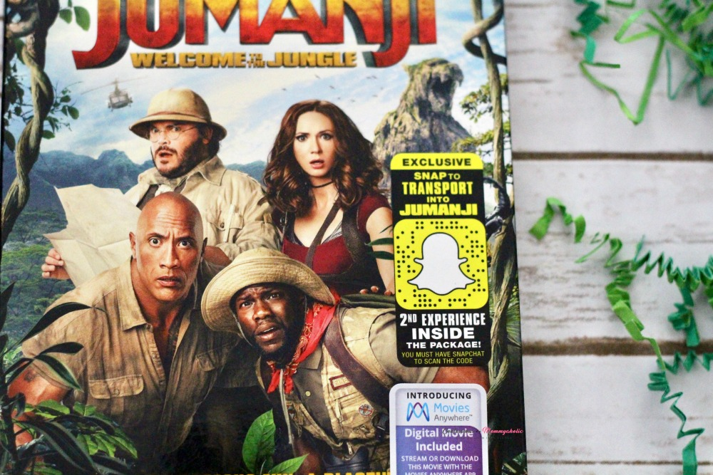 Closeup of Jumanji DVD