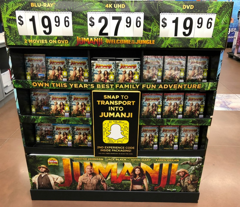 Jumanji Movie Disply Walmart