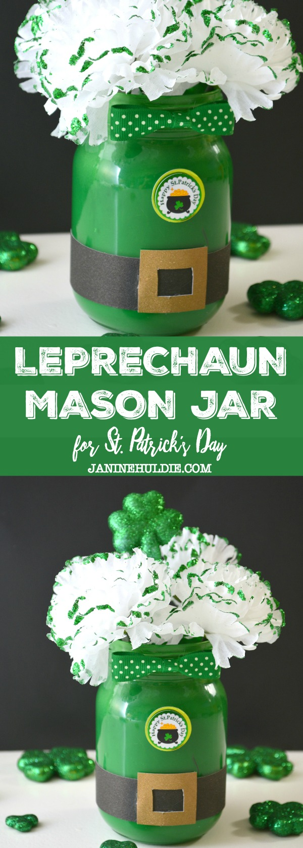 Leprechaun Mason Jar for St. Patrick's Day