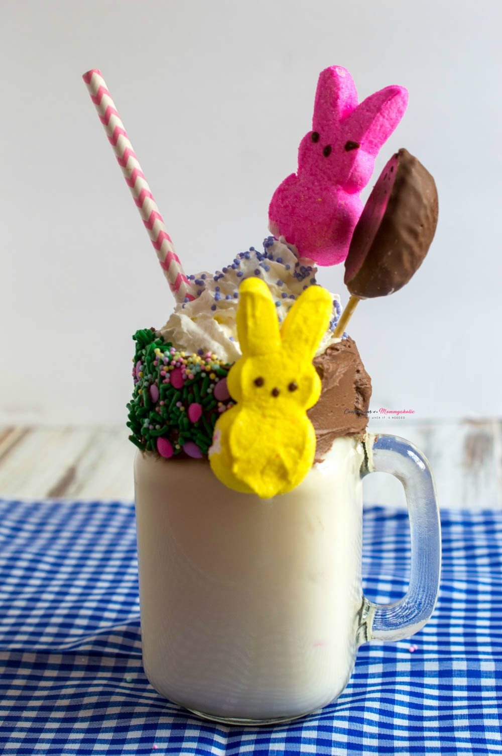 Peeps Candy Milkshake Recipe Vertical