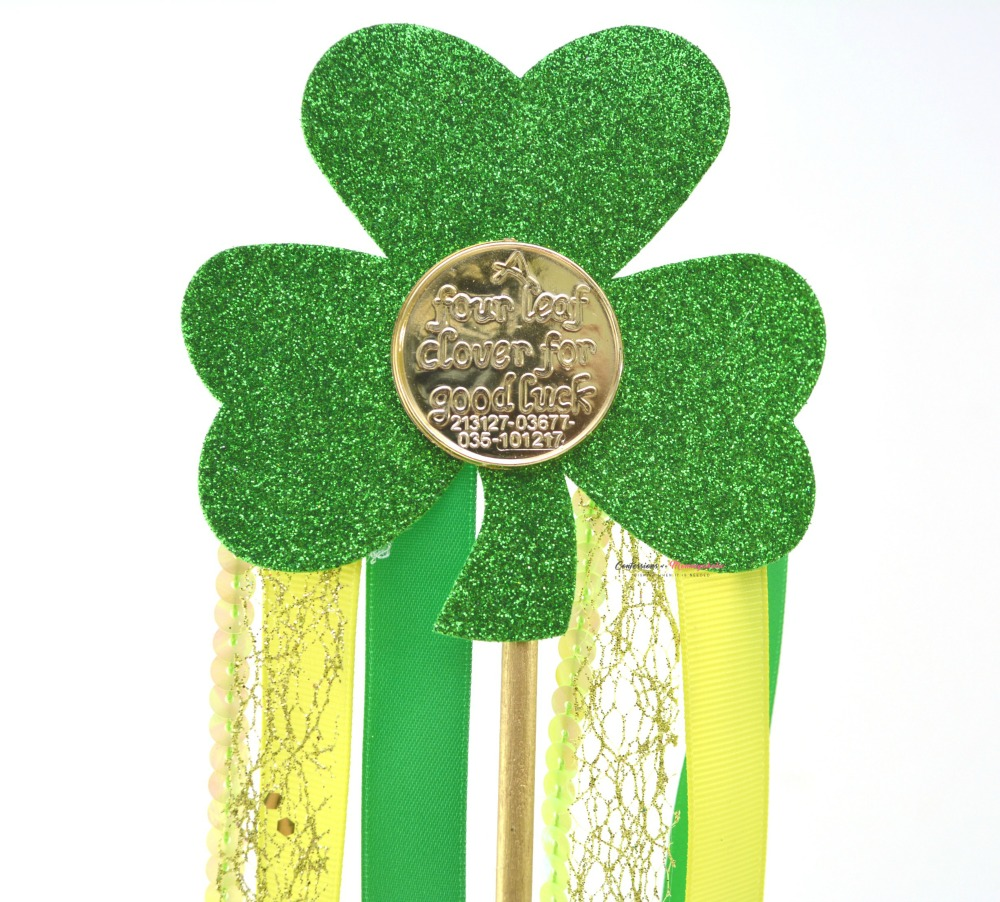 Sparkly Shamrock Wand Craft Step 6