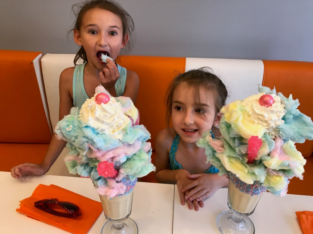 Girls with Crazy Cotton Candy Milkshakes 1