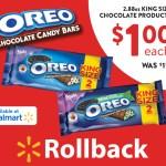 OREO Chocolate King Size Candy Bars $1 at Walmart + Win Big Now