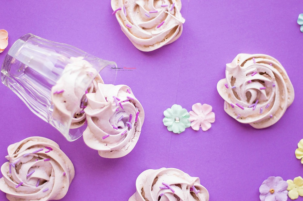 Purple Flower Meringue Cookies Recipe Horizontal 2