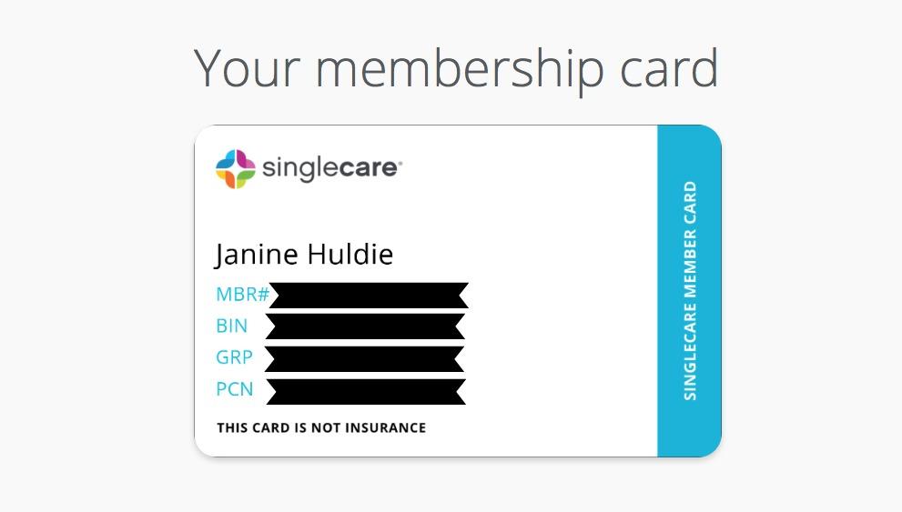 Singlecare Membership Card