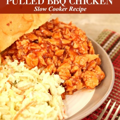 Sweet and Tangy Pulled BBQ Chicken Slow Cooker Recipe