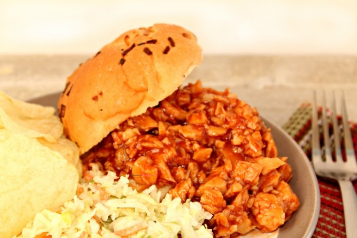 Sweet & Tangy Pulled BBQ Chicken Slow Cooker Recipe