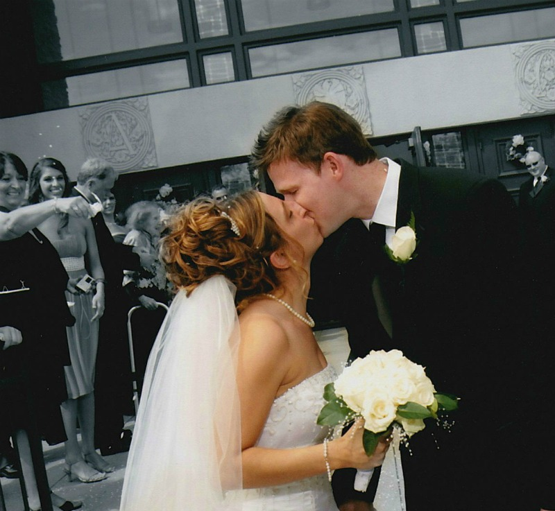 Our Wedding Kiss in Front of the Church