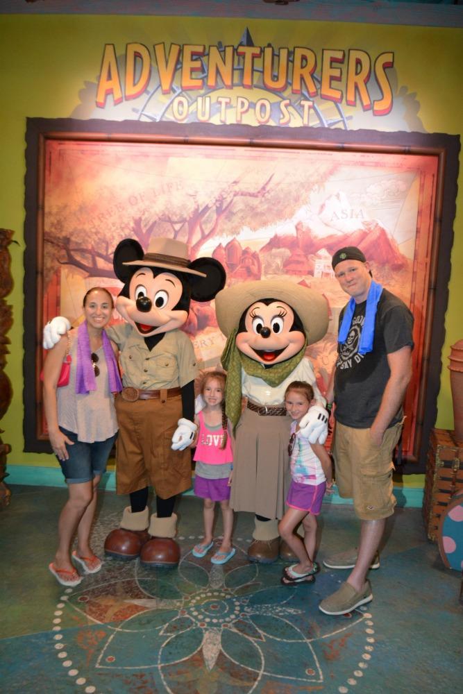 Animal Kingdom with Mickey and Minnie