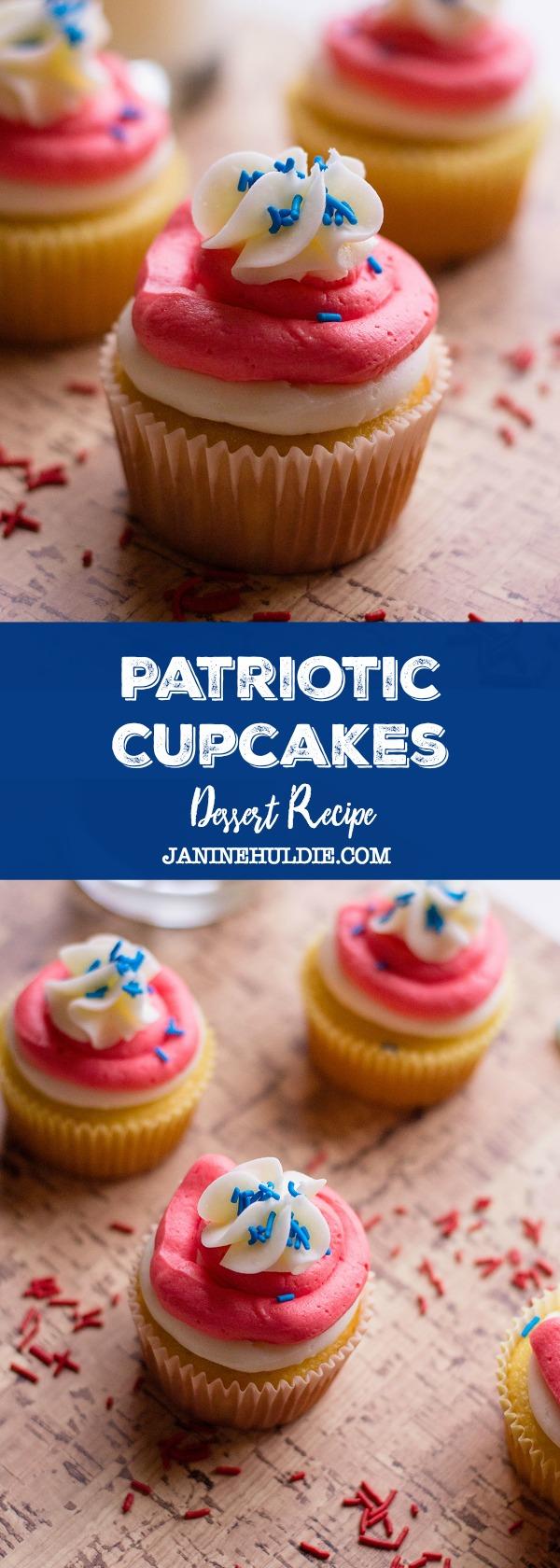 Patriotic Cupcakes Dessert Recipe