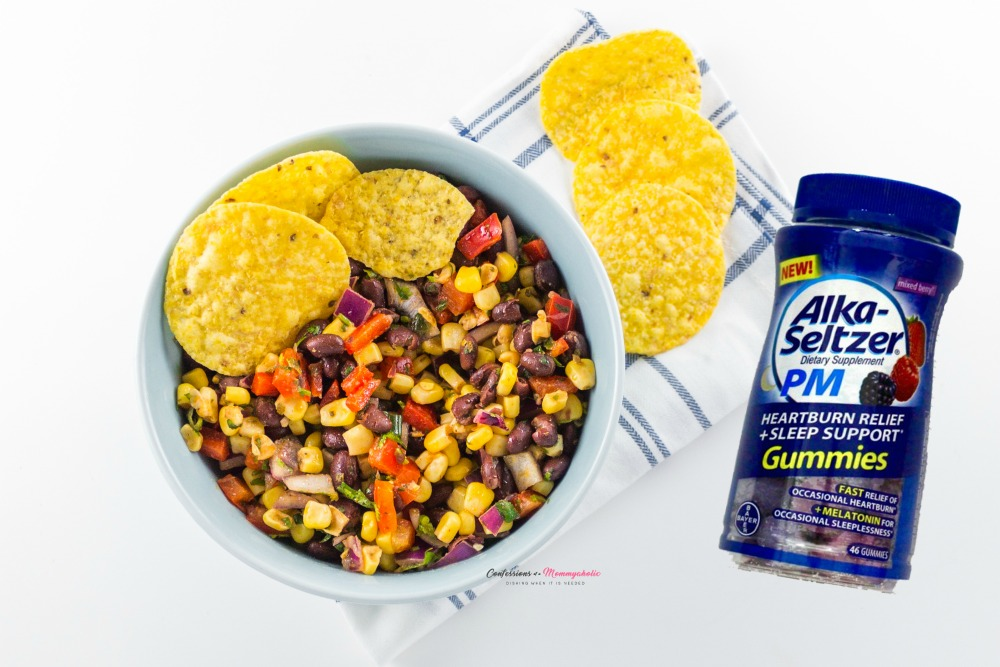 Black-Bean-and-Corn-Salsa-Recipe with Alka Seltzer