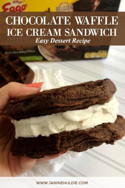 Chocolate Waffle Ice Cream Sandwich Recipe Featured Image