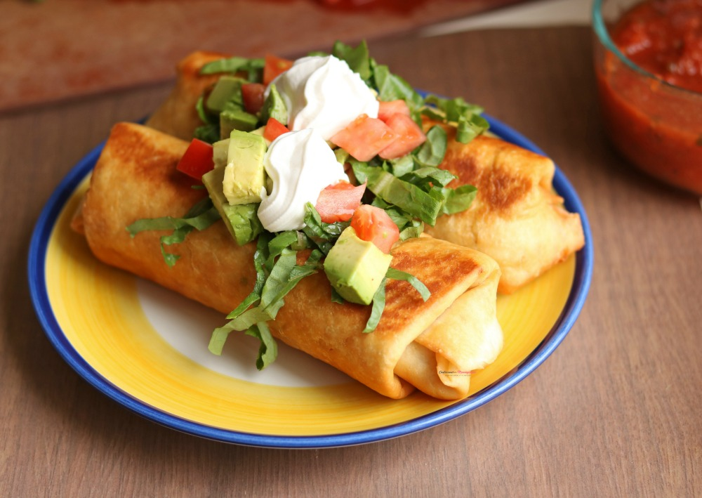 Quick and Easy Rotisserie Chicken Chimichangas Recipe Horizontal 2