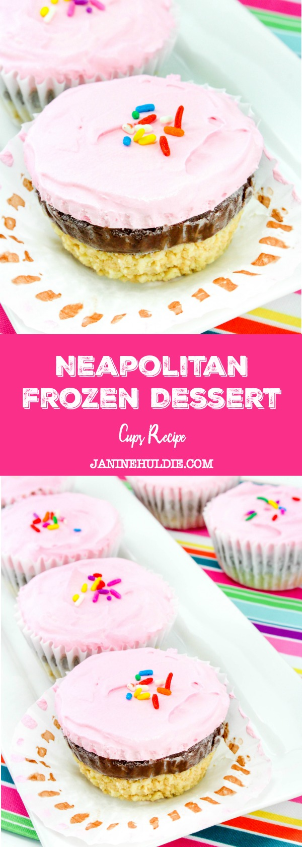Neapolitan Frozen Dessert Cups Recipe