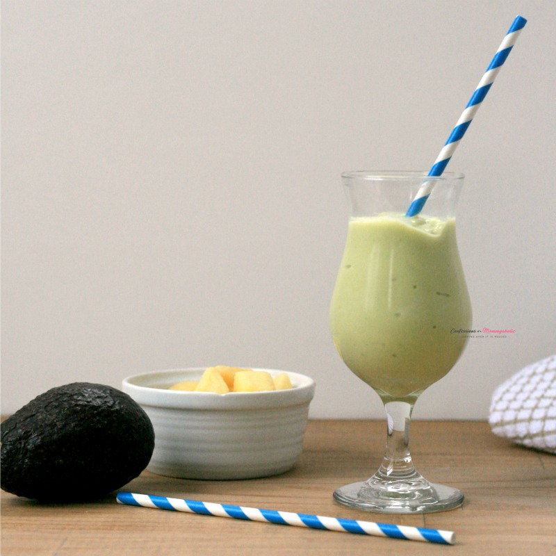 Pineapple Avocado Smoothie Recipe Horizontal 3