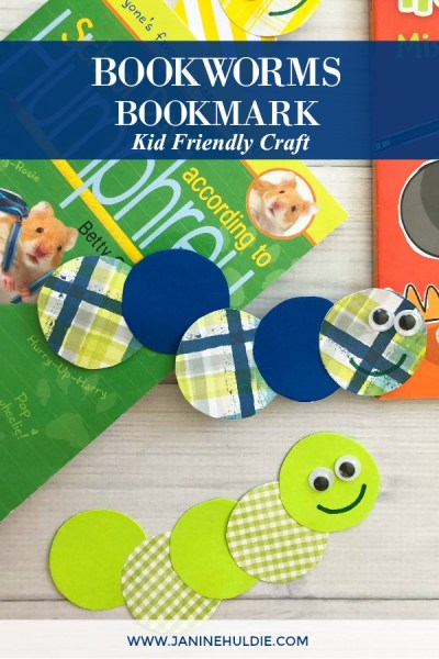 Bookworms Bookmark Craft Featured Image