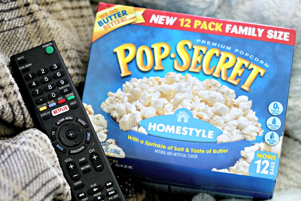 Pop Secret with Remote for Netflix