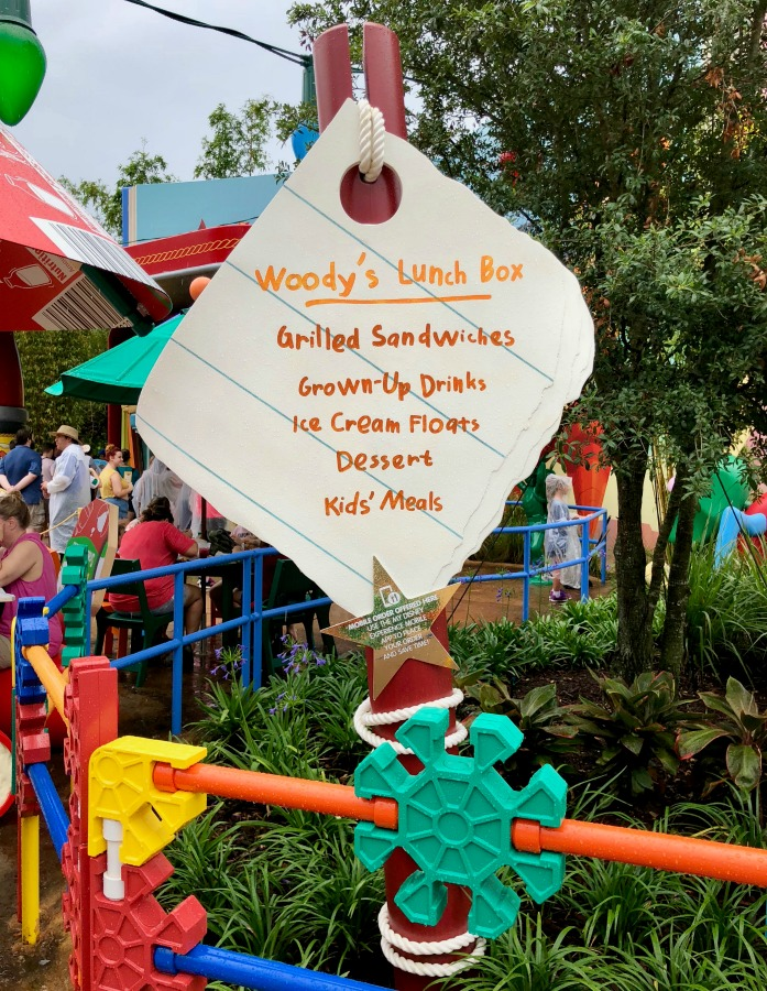 Walt Disney Hollywood Studios Toy Story Land Woody's Lunch Box Sign