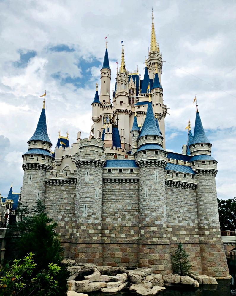 Walt Disney World Magic Kingdom Cinderella Castle Side Shot