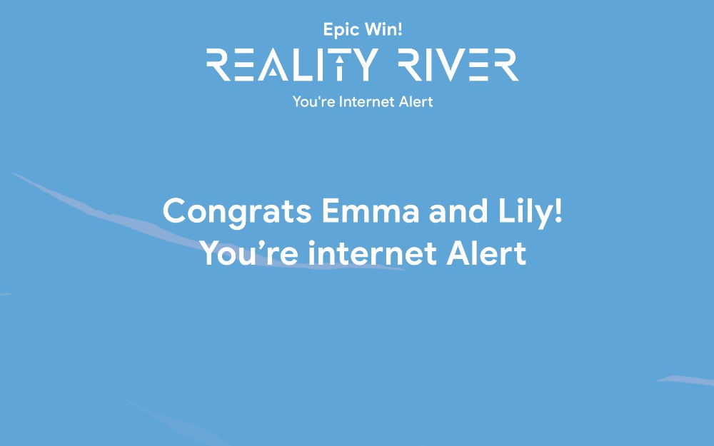 Certificate for Reality River