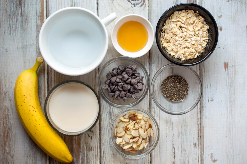 Chocolate Banana Nut Oatmeal Recipe Ingredients