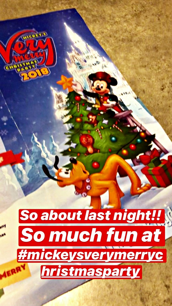 Mickeys Very Merry Christmas Party Pamphlet 2018