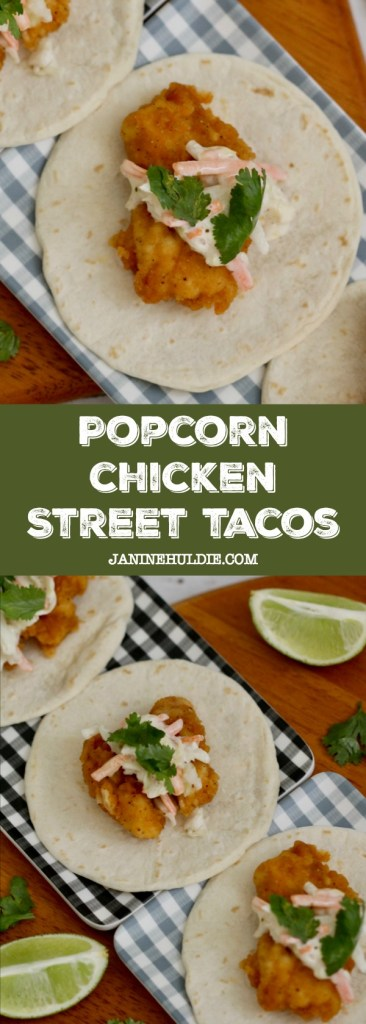 Popcorn Chicken Street Tacos Recipe