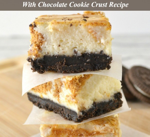 Pumpkin Pie Cheesecake Bars with Chocolate Cookie Crust Recipe Featured Image 1
