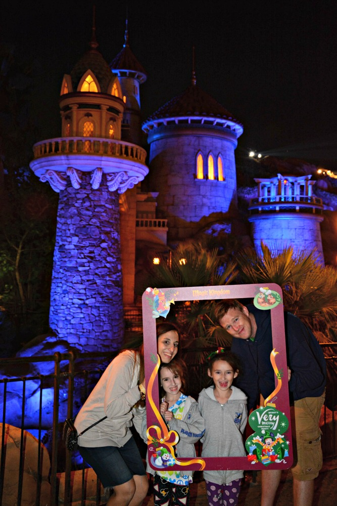 Special Photo with Frame at Mickey Very Merry Christmas Party