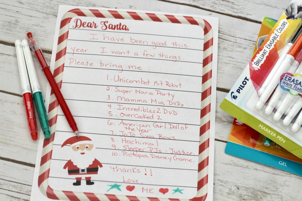 All Written Up Letter to Santa Step 1