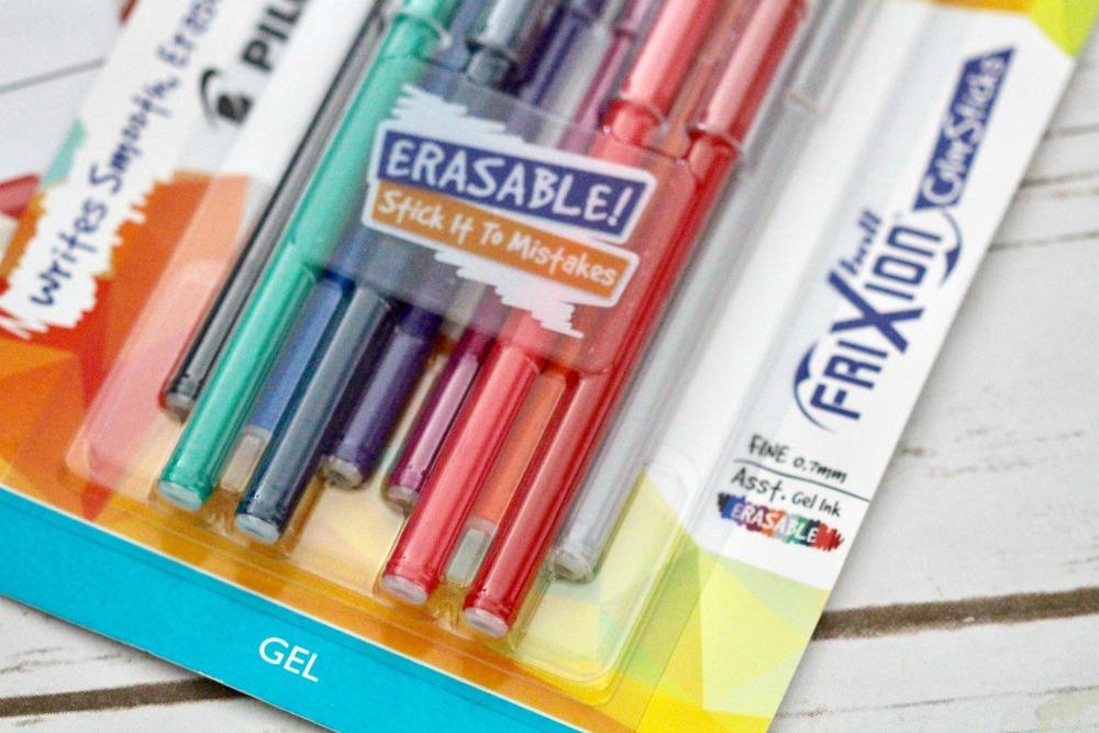 Closeup of Polit FriXion Gel Pens
