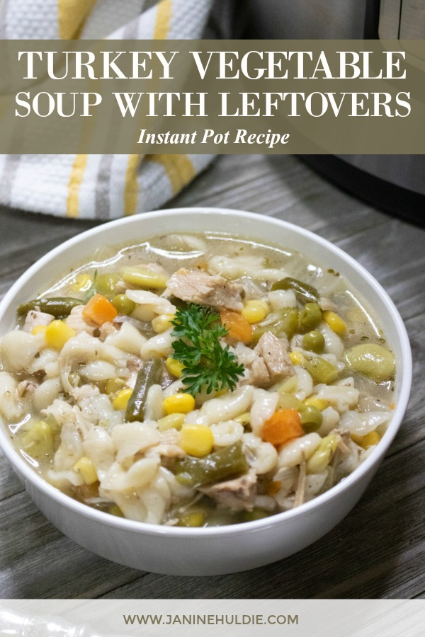 Instant Pot Turkey Vegetable Soup with Leftovers Recipe Featured Image