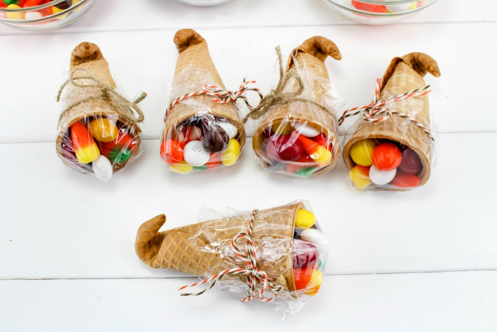 Thanksgiving Sugar Cone Cornucopia Treats In Process 6