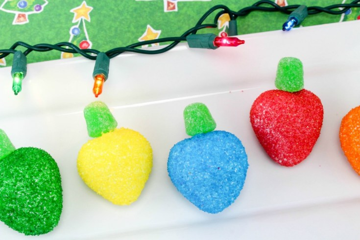 The Most Festive Strawberry Christmas Lightbulbs Recipe