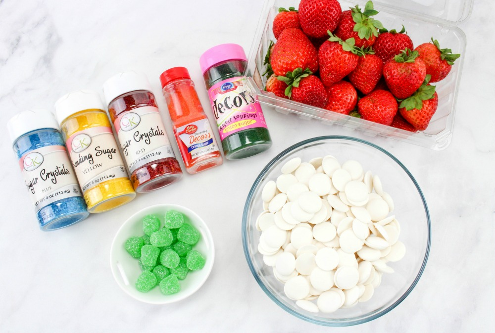 The Most Festive Strawberry Christmas Lightbulbs Recipe Ingredients