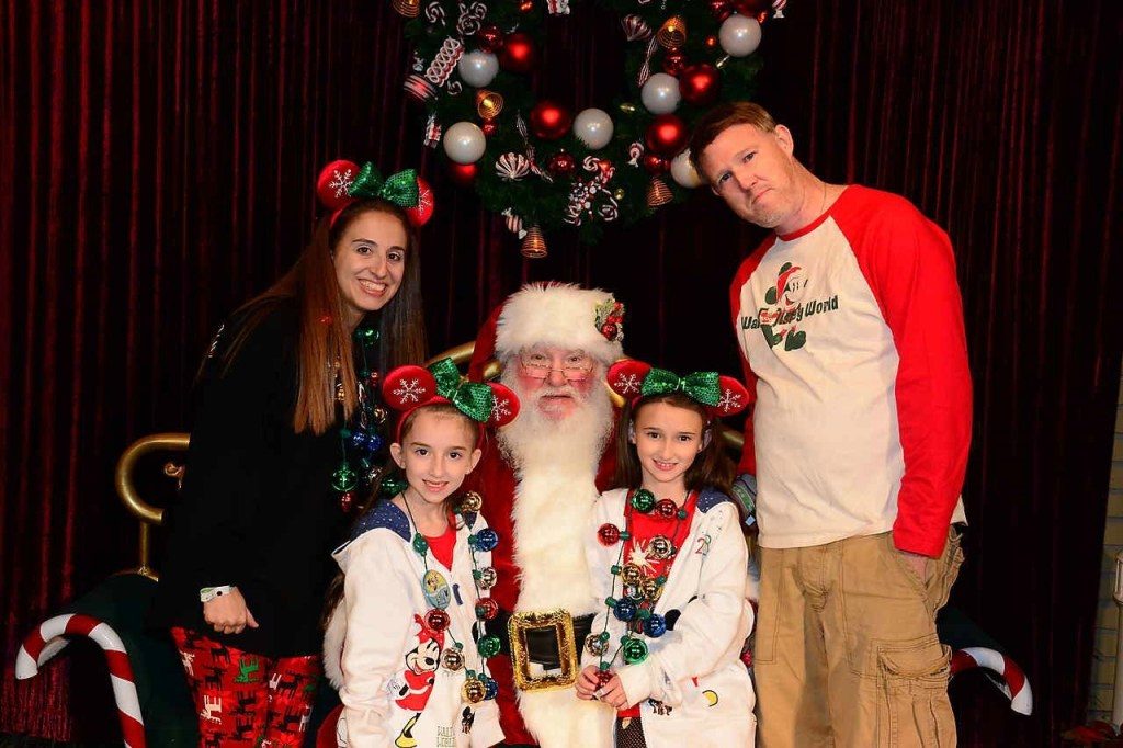 With Santa Claus at Mickeys Very Merry Christmas Party 2018