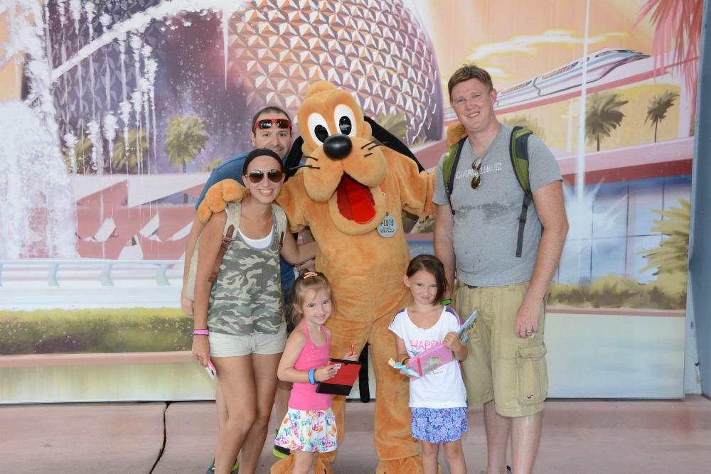 Meeting Pluto at Walt Disney World Epcot in 2015