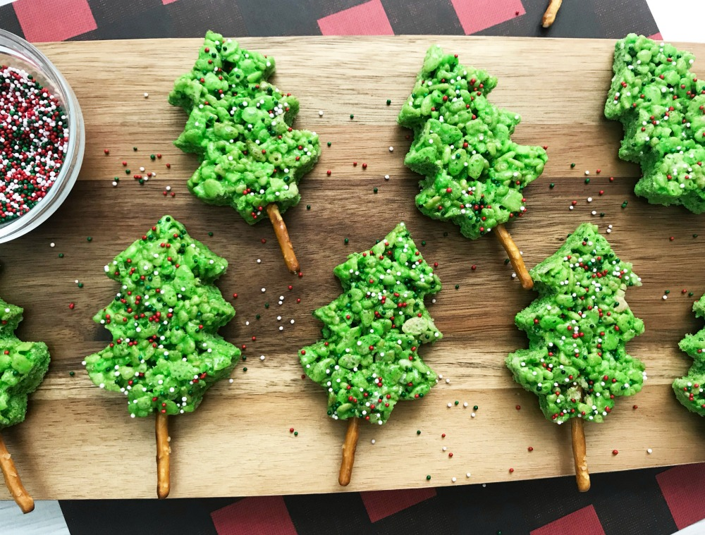 Rice Krispie Christmas Trees Horizontal 1