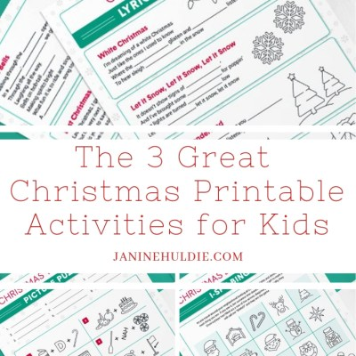 The 3 Great Christmas Printables for Kids
