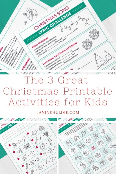 The 3 Great Christmas Printables for Kids