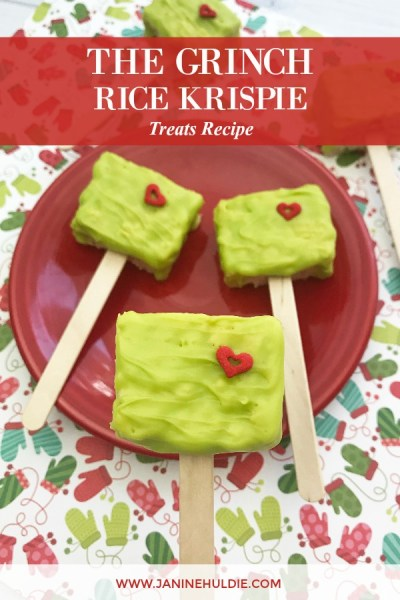 The Grinch Rice Krispie Treats Recipe Featured Image