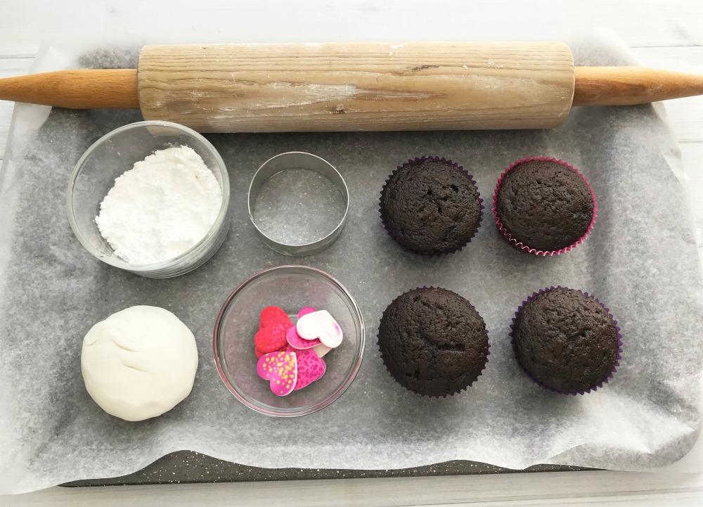 Love Stitch Cupcakes Recipe Supplies