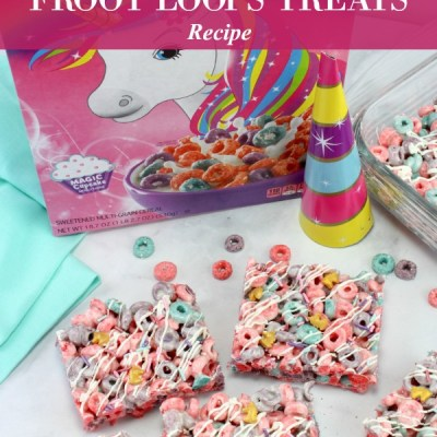 Unicorn Froot Loops Treats Recipe Featured Image