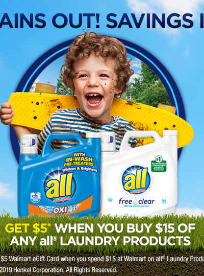 all® Laundry Products Walmart Gift Card Offer