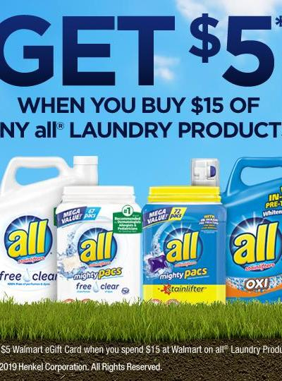 all Laundry Products Walmart Gift Card Offer